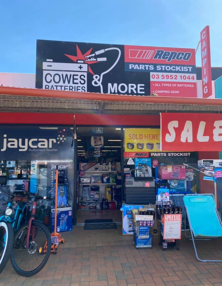 cowes batteries and more Phillip Island for all Electrical, Camping, Fishing needs