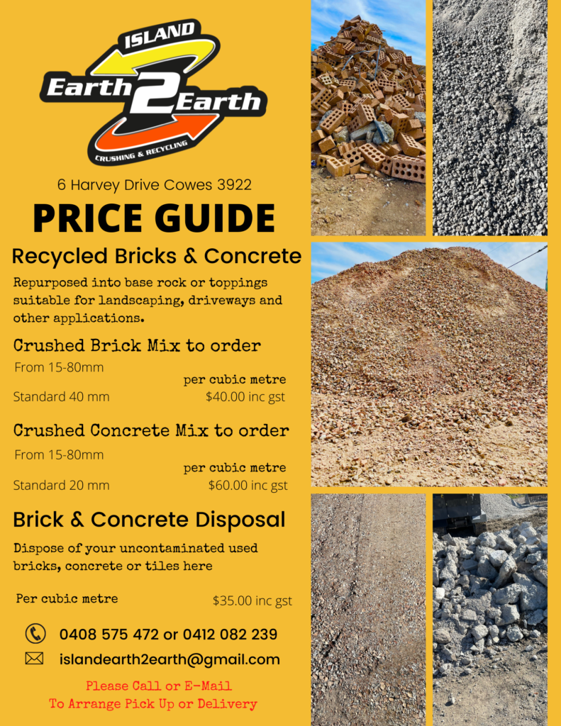 For the best recycle producer on Phillip Island, contact me for a competitive quote